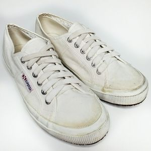 Superga Canvas Lace Up Sneakers White 40/9
